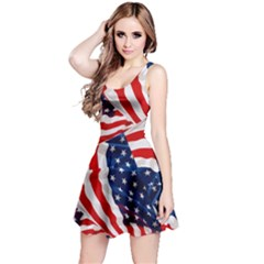 Us Flag 3 Reversible Sleeveless Dress by CoolDesigns