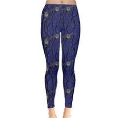Blue Pattern Owls In The Night Forest Women s Leggings by CoolDesigns
