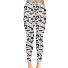Gray Vintage Whale Women s Leggings