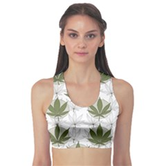 Green Marijuana Badges With Marijuana Leaves Women s Sport Bra by CoolDesigns