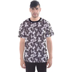 Black Black And White Chess Pieces Gray Pattern Men s Sport Mesh Tee