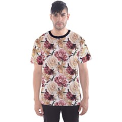 Colorful Floral Pattern Roses Watercolor Men s Sport Mesh Tee by CoolDesigns