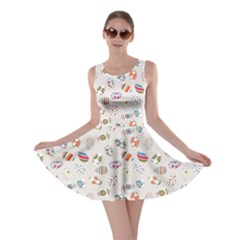 Colorful Colorful Decorated Easter Eggs Pattern Skater Dress by CoolDesigns