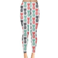 Colorful Pattern Color Pineapple Leggings by CoolDesigns