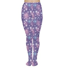 Blue Abstract Pattern With Star On Blue Tights by CoolDesigns