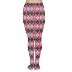 Colorful Argyle Pattern In Pink And Black Tights by CoolDesigns