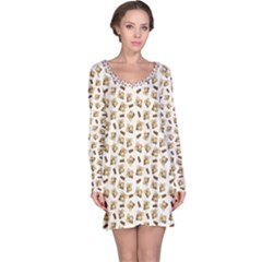 Colorful Pattern With Koalas Long Sleeve Nightdress by CoolDesigns