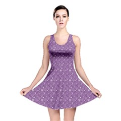 Purple Day Of The Dead Sugar Skull Reversible Skater Dress