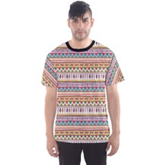 Colorful With Tribal Pattern Men s Sport Mesh Tee by CoolDesigns