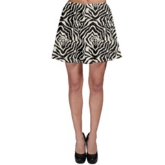 Black Zebra Skin Pattern Skater Dress