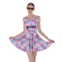 Purple Violet Abstract With Sparks Floral Skater Dress by CoolDesigns