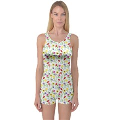 Colorful Flower Pattern Women s One Piece Swimsuit by CoolDesigns