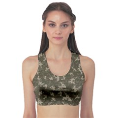 Green Camouflage Pattern Women s Sport Bra by CoolDesigns