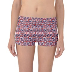 Red Pattern Of British Flag Boyleg Bikini Bottoms by CoolDesigns
