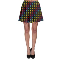 Black Rainbow Retro Videogame Pixel Monkeys Pattern Skater Dress by CoolDesigns