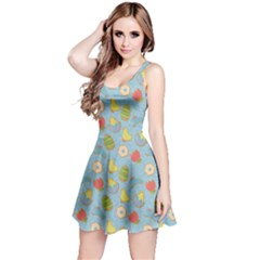 Green Cute Easter Themed Cookies Sleeveless Skater Dress