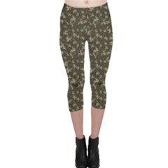 Green Camouflage Pattern Capri Leggings by CoolDesigns