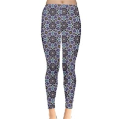 Blue Traditional Morocco Pattern Leggings