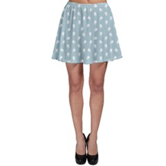 Blue Dental Pattern White Teeth On Blue Skater Skirt by CoolDesigns