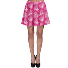 Pink Love Concept Pattern With Lace Hearts Skater Skirt by CoolDesigns