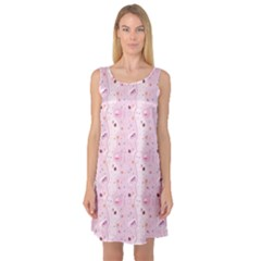 Pinks Of The Things That Little Girls Play Sleeveless Satin Nightdress