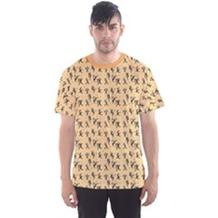 Orange African Hunters Pattern Men s Sport Mesh Tee by CoolDesigns