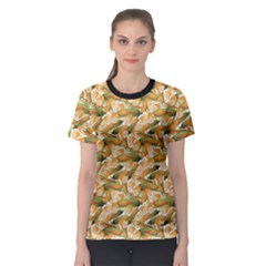 Colorful Vegetable Organic Food Yellow Corn Stalk Pattern Women s Sport Mesh Tee by CoolDesigns
