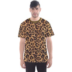 Brown A Yellow And Black Jaguar Spotted Repeatable Men s Sport Mesh Tee