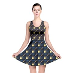 Dark Planets Of Solar System In Orbit Aorund The Sun Reversible Skater Dress by CoolDesigns