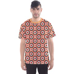 Orange Circles Polka Dots Pattern Men s Sport Mesh Tee by CoolDesigns