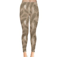 Nude Pattern From Feather A Bird Leggings by CoolDesigns
