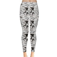 Gray Seashell Pattern Sea Design Leggings by CoolDesigns