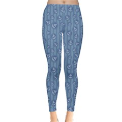 Blue Anchor Pattern Leggings by CoolDesigns