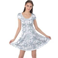 Blue Pattern Snowflakes Cap Sleeve Dress by CoolDesigns