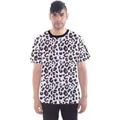 Black Leopard Print Pattern Animal Men s Sport Mesh Tee by CoolDesigns