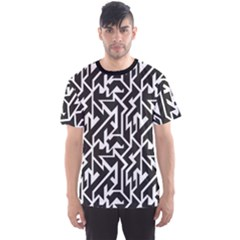 Black Monochrome Tech Pattern Men s Sport Mesh Tee