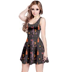 Colorful Pattern For Wines Menu Reversible Sleeveless Dress
