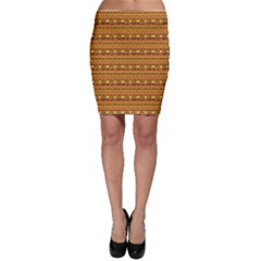 Orange Geometric African Ethnic Bodycon Skirt