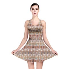 Brown Tribal Pattern In The African Style Reversible Skater Dress by CoolDesigns