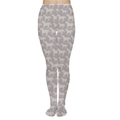 Gray Pattern With Stylized Horses Women s Tights