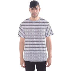 Gray Black And White Doodle Style Tileable Tribal Pattern Men s Sport Mesh Tee by CoolDesigns