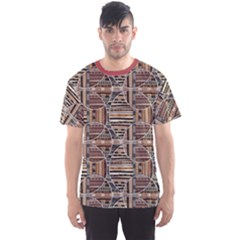 Brown Geometric Elements In The African Style Men s Sport Mesh Tee by CoolDesigns