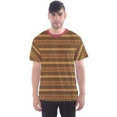 Brown African Geometric Ornament Men s Sport Mesh Tee by CoolDesigns