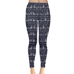 Blue Christmas Pattern Women s Leggings by CoolDesigns