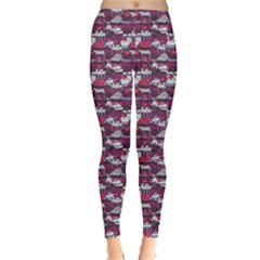 Purple Pattern With Sweet Cupcakes Women s Leggings by CoolDesigns