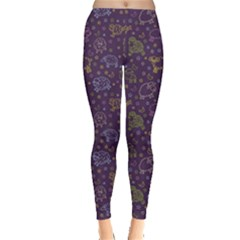 Blue Pattern With Sheep In Night Women s Leggings