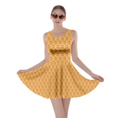 Yellow Colorful Honeycomb Skater Dress by CoolDesigns