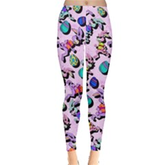 Colorful Rabbit Classic Leggings  by CoolDesigns
