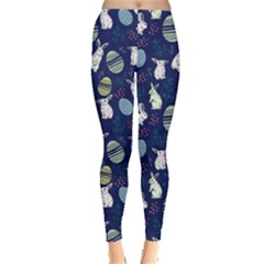 Navy Rabbit Leggings  by CoolDesigns