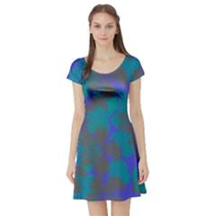 Blue Hawaii Short Sleeve Skater Dress by CoolDesigns